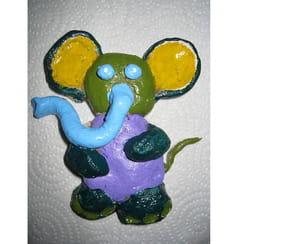 Faire un éléphant en pâte à sel