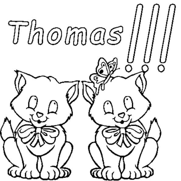 Dessin Thomas a colorier