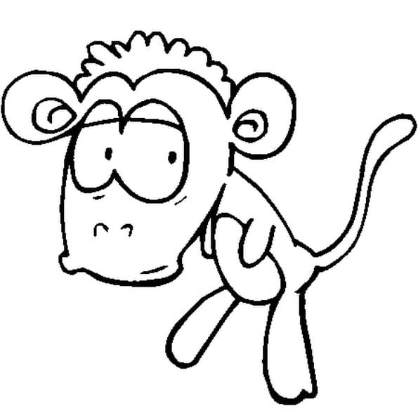 Coloriage singe rigolo en Ligne Gratuit à imprimer