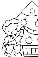 Coloriage dessin sapin de noël en Ligne Gratuit à imprimer