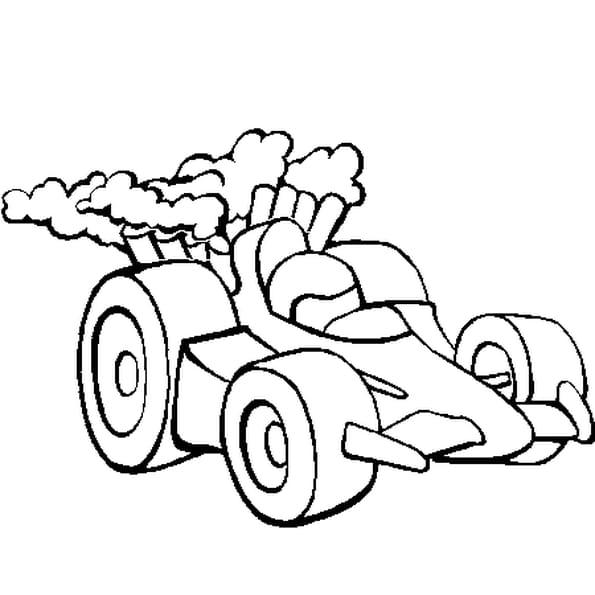 Coloriage voiture course en ligne gratuit imprimer - Voiture de sport a colorier ...