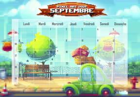 Pixel Art: calendrier2021