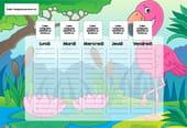 Planning enfant: le flamant rose