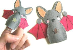 Marionnette de doigts, une chauve-souris