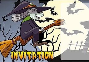 Carte invitation Halloween méchante sorcière
