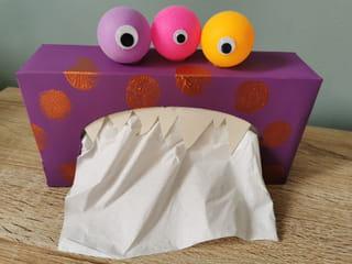 Votre boîte à mouchoirs est maintenant transformée en monstre!