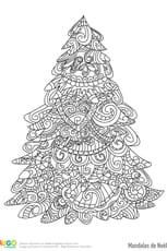 Mandala sapin de Noël