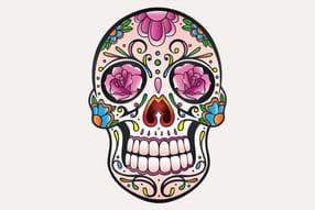 Crânes têtes de mort du mexique