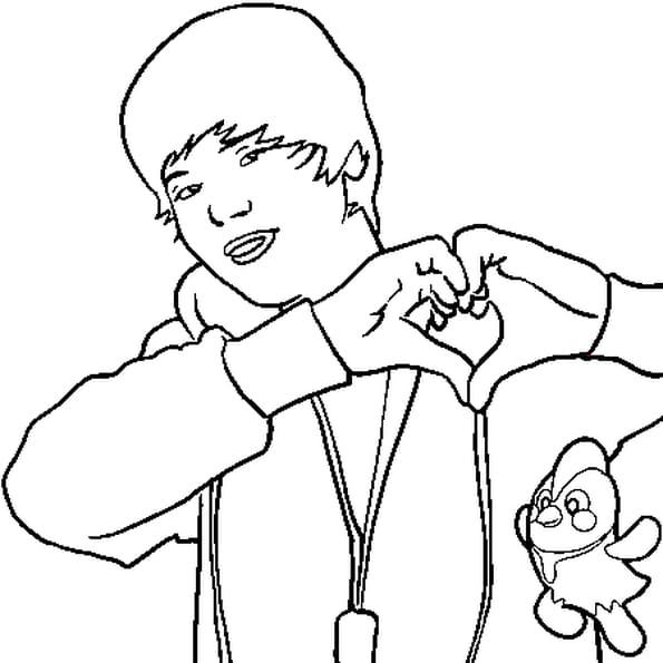 Coloriage Justin Bieber en Ligne Gratuit à imprimer