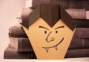 Le Vampire d'Halloween en papier