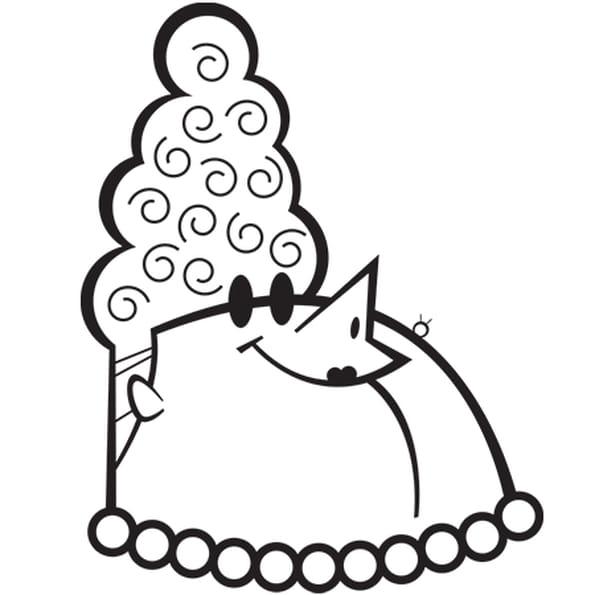 Coloriage Portrait de madame la marquise en Ligne Gratuit à imprimer