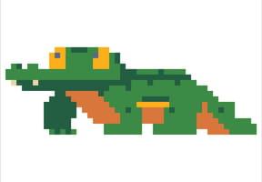 Pixel art crocodile