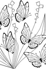 Coloriage papillon et muguet
