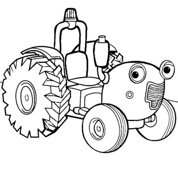 Dessin tracteur tom a colorier