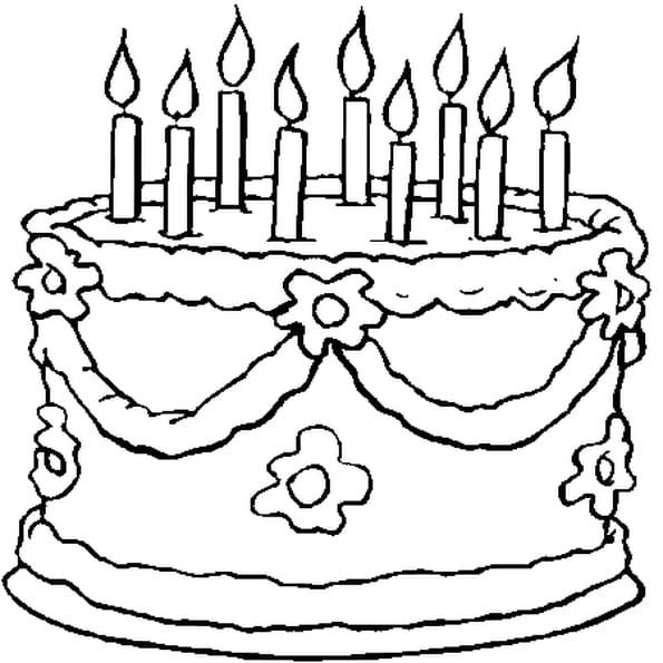 9 ans coloriage 9 ans en ligne gratuit a imprimer sur coloriage tv - Comment dessiner une bougie ...