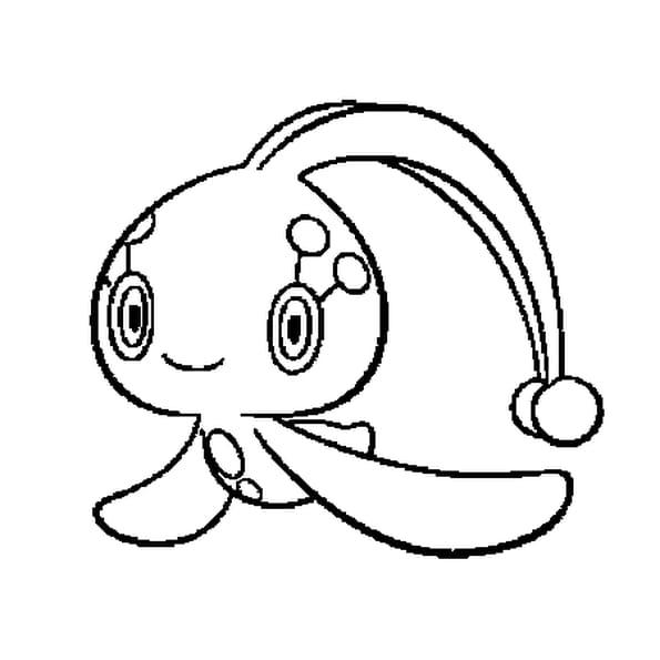 Coloriage Pokémon manaphy en Ligne Gratuit à imprimer