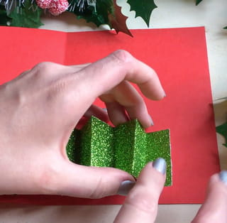 Carte de Noël sapin Étape 5