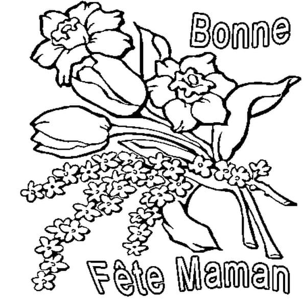 Dessin Fête des Mamans a colorier