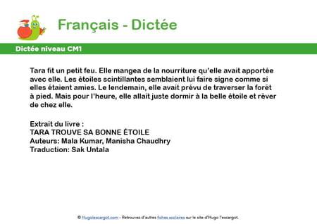 fiche-dictee-niveau-cm1