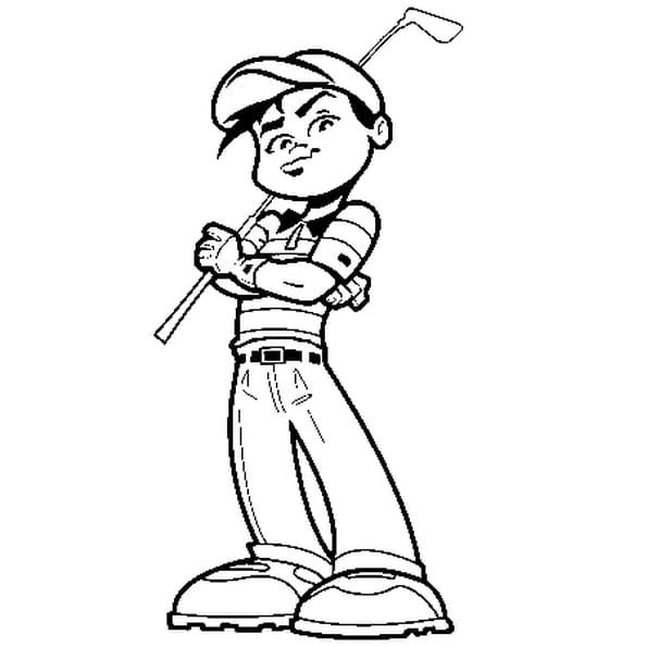 Dessin golf a colorier