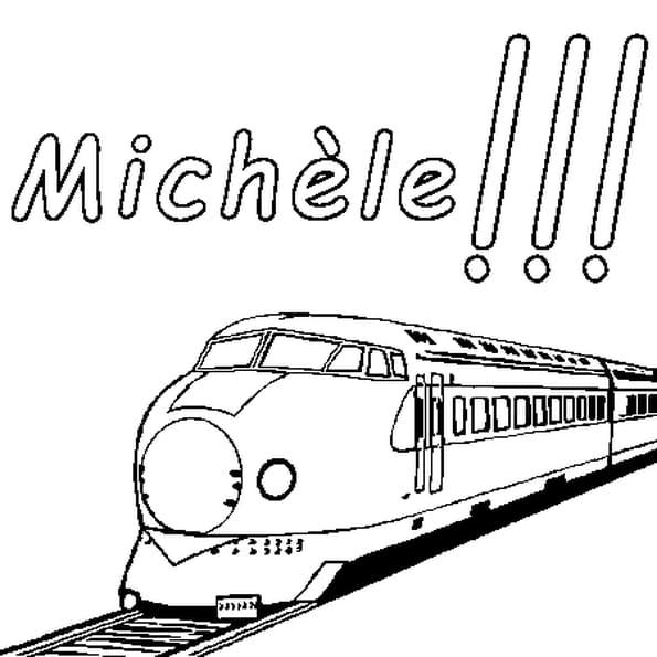 Dessin Michèle a colorier