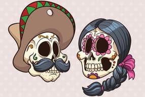 Squelettes et têtes de mort