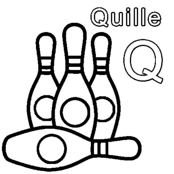Coloriage Q comme Quille en Ligne Gratuit à imprimer