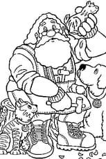 Coloriage Père Noël 2 en Ligne Gratuit à imprimer