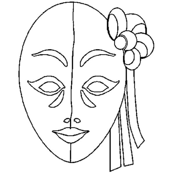 Coloriage Masque en Ligne Gratuit à imprimer