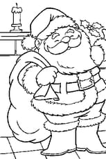 Coloriage d'un Père Noël