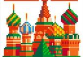 Russie 2018en pixel art