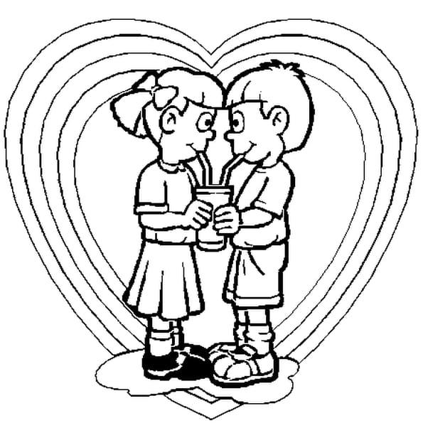 Coloriage coeur rose en Ligne Gratuit à imprimer