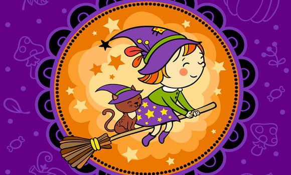 Coloriage Sorcières Halloween