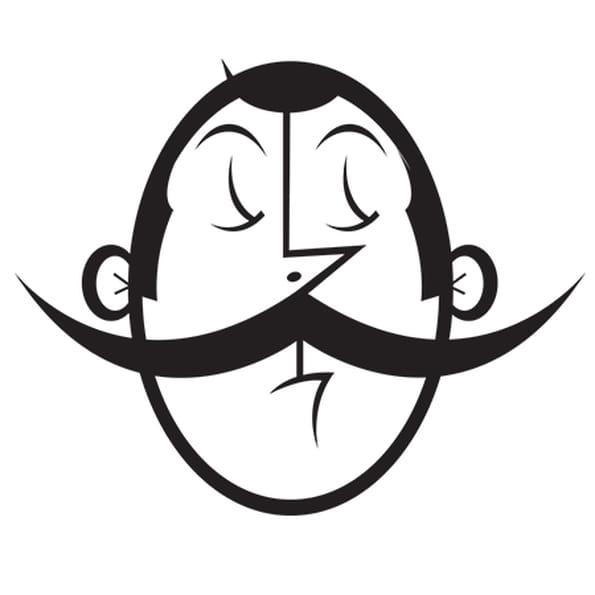 Coloriage Portrait Big Moustache en Ligne Gratuit à imprimer