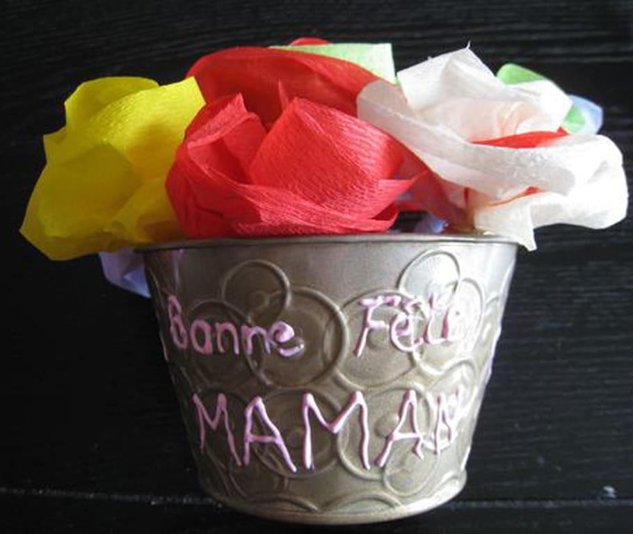 Vase de fleurs Fête des Mères