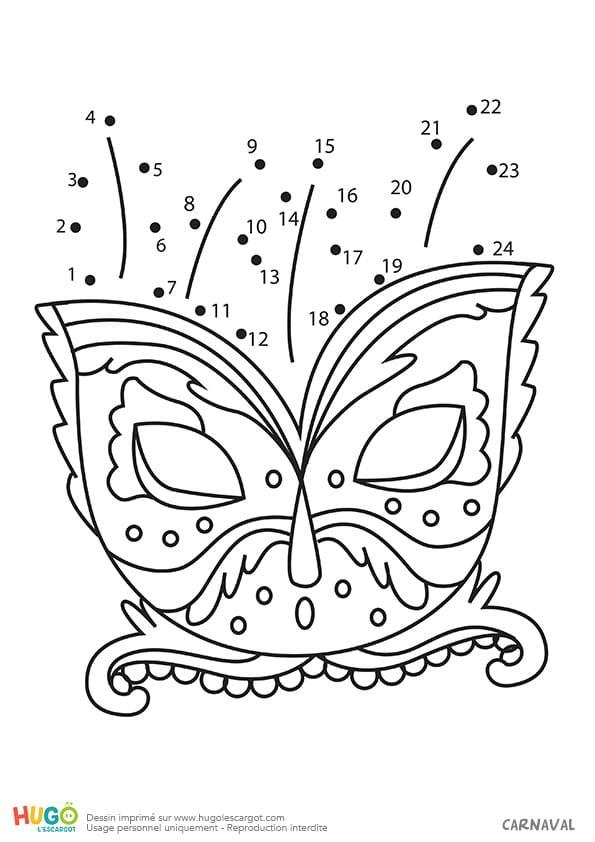 Masque coloré pour Mardi-gras