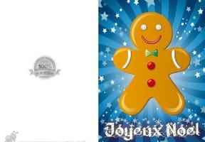 Carte de Noël bonhomme en pain d'épices