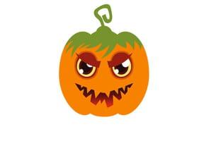 Masque classique de citrouille pour Halloween
