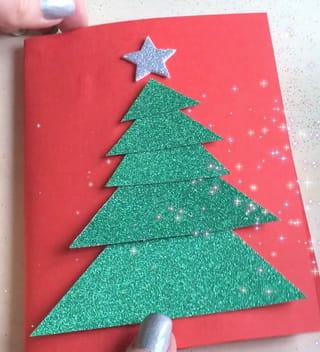 Carte de Noël sapin Étape 9