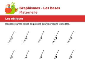 Les bases du graphisme, les obliques niveau 2