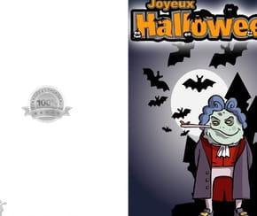 Carte joyeux Halloween monstre
