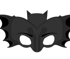 Masque de chauve-souris Halloween à découper