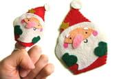 Marionnette de doigts, le père Noël