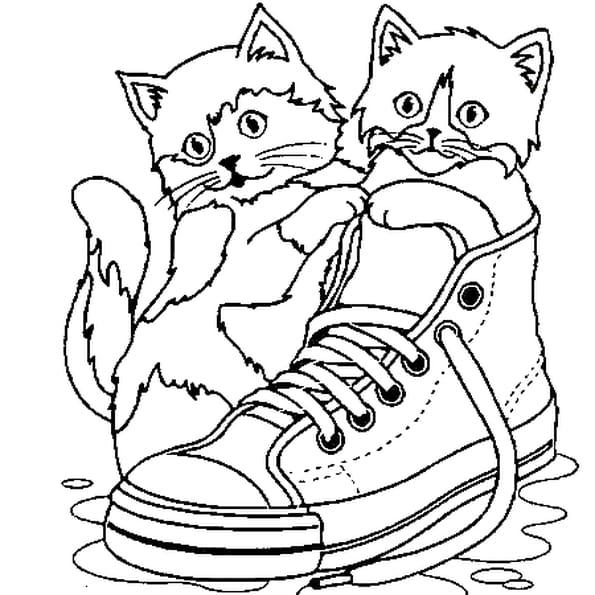 coloriage petit chat en ligne gratuit imprimer. Black Bedroom Furniture Sets. Home Design Ideas