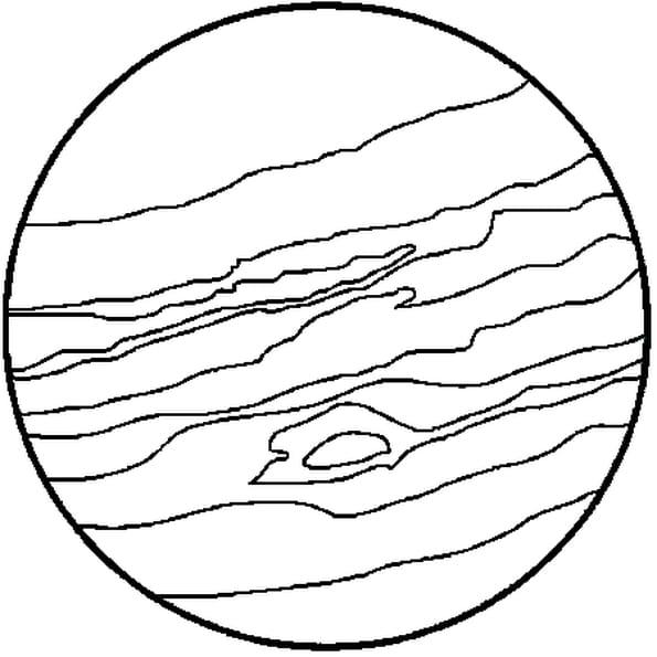 Dessin Jupiter a colorier