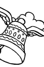 Coloriage cloche pâques en Ligne Gratuit à imprimer