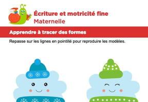 Motricité fine Maternelle, la neige et la pluie