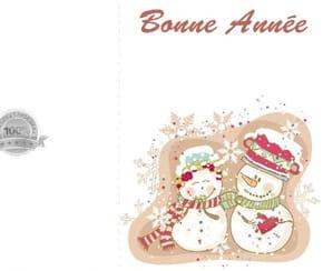 Carte couple bonhomme de neige