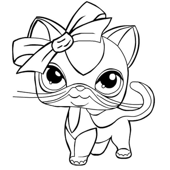 Coloriage pet shop en ligne gratuit imprimer - Coloriage en ligne chat ...