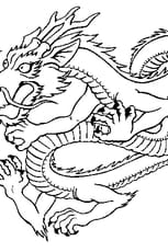 Coloriage Dragon Japonais